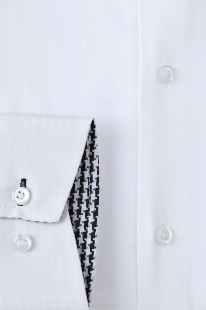 Хлопковая белая рубашка 1-103-1-1112