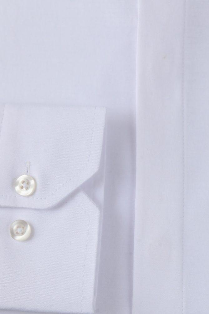 Белая мужская рубашка Slim-Fit 1-204-7-5008