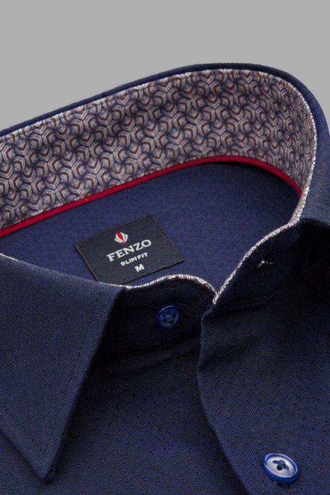 Рубашка из чистого хлопка классическая 1-107-4-1167