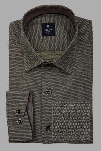 Хлопковая сорочка с классическим воротом 1-107-4-1170