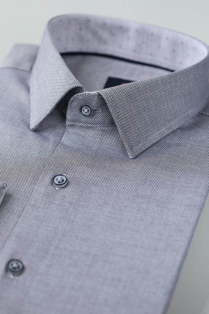 Приталенная рубашка из хлопка 1-107-4-1176