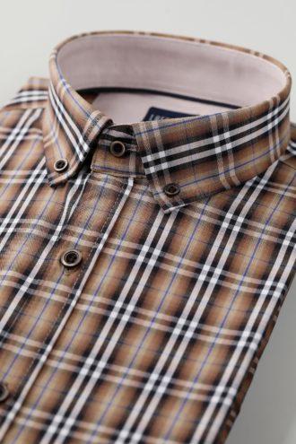 Приталенная мужская рубашка 1-120-5-1106