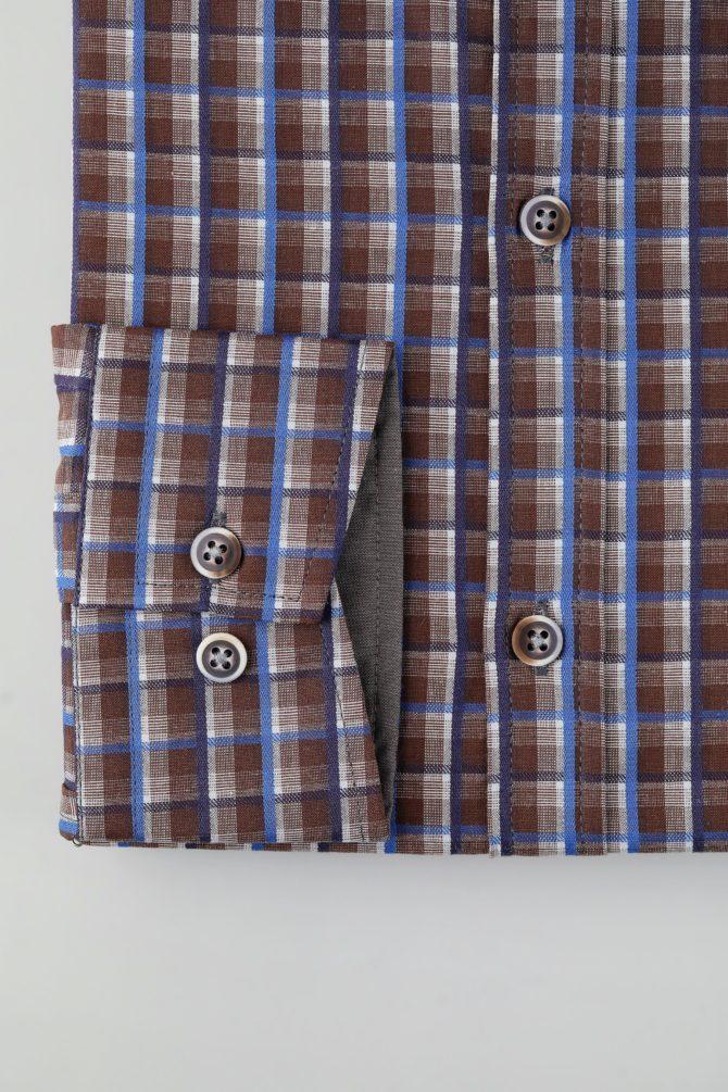 Приталенная мужская рубашка 1-120-5-1102