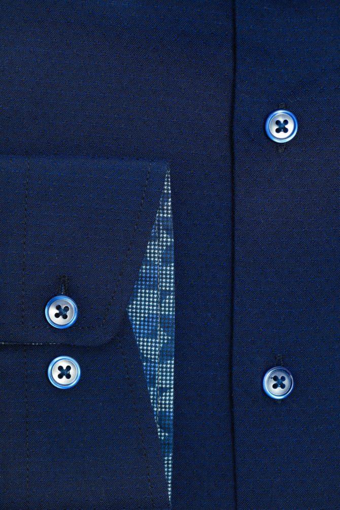 Приталенная рубашка из хлопка 1-107-4-1173