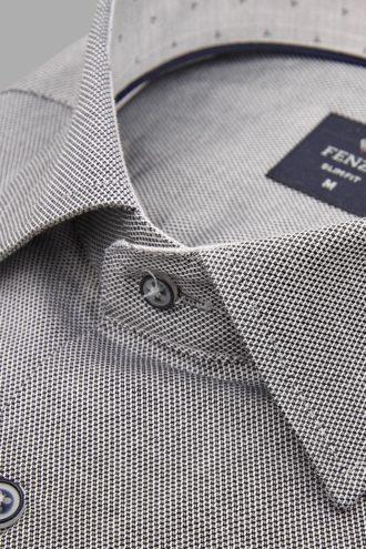 Приталенная рубашка из хлопка 1-107-4-1178