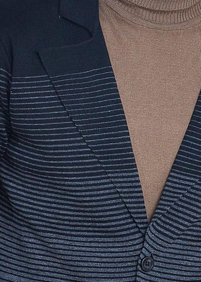 Стильный кардиган мужской акрил и шерсть ADZE 1-9261100