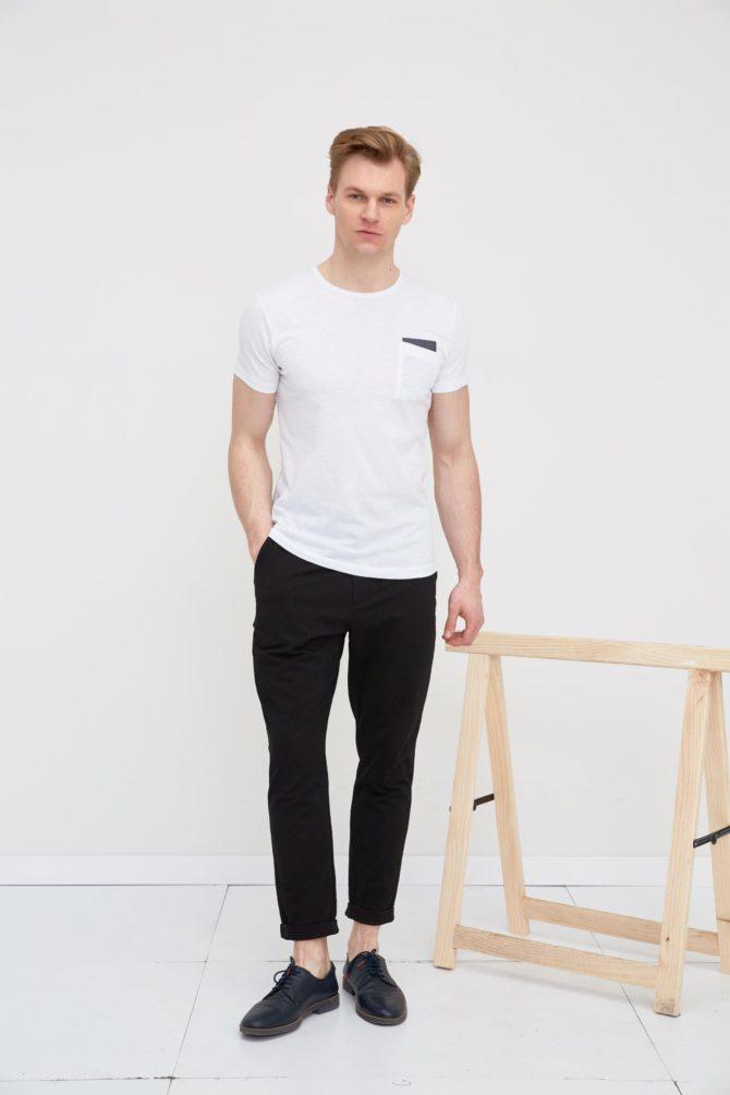 Хлопковая мужская футболка slim-fit 17-311200