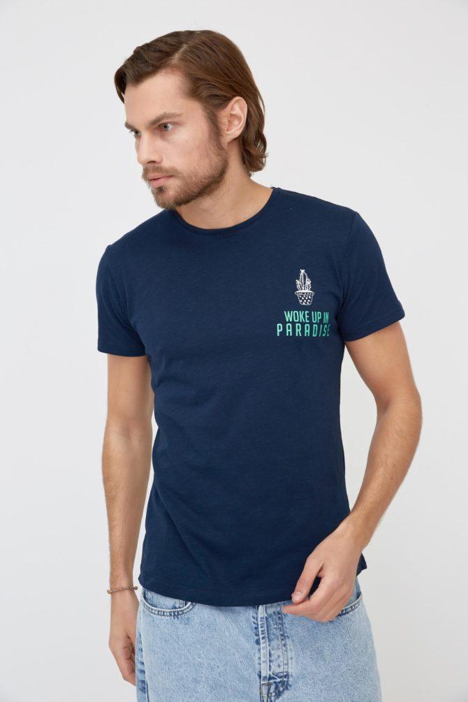 Повседневная футболка из хлопка 9-311100