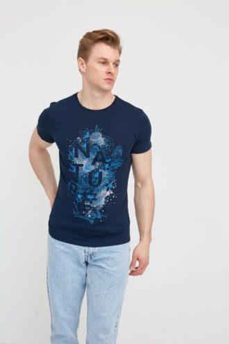 Casual хлопковая мужская футболка 2-315200