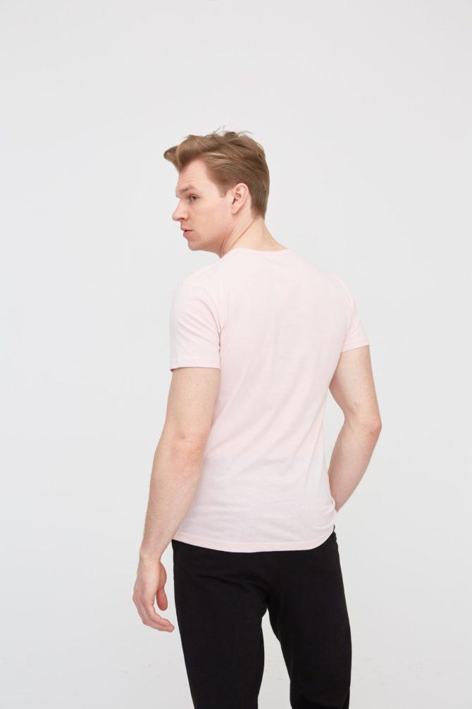Casual хлопковая мужская футболка 20-315200