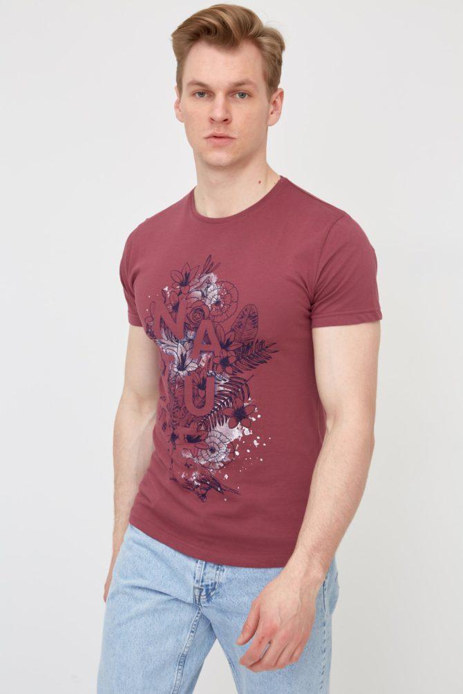 Casual хлопковая мужская футболка 4-315200