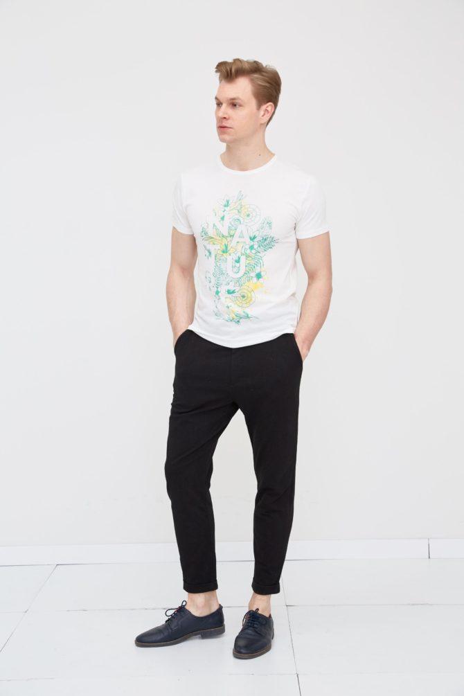 Casual хлопковая мужская футболка 18-315200