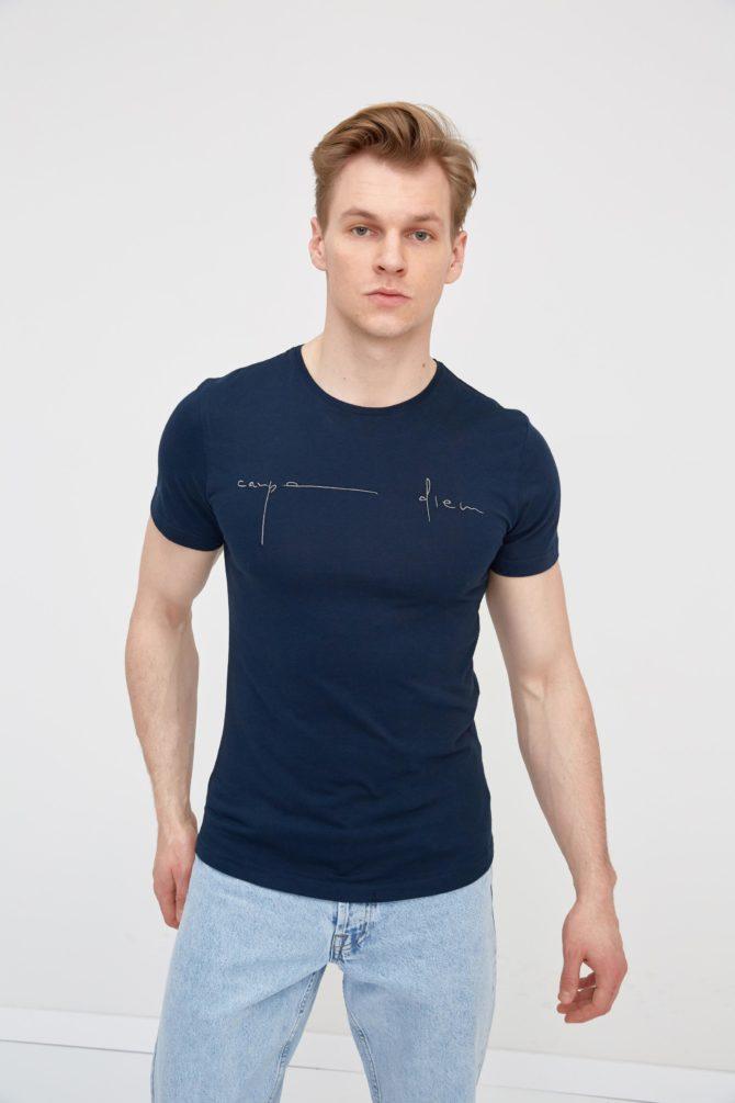 Мужская футболка с фактурным принтом 2-315100