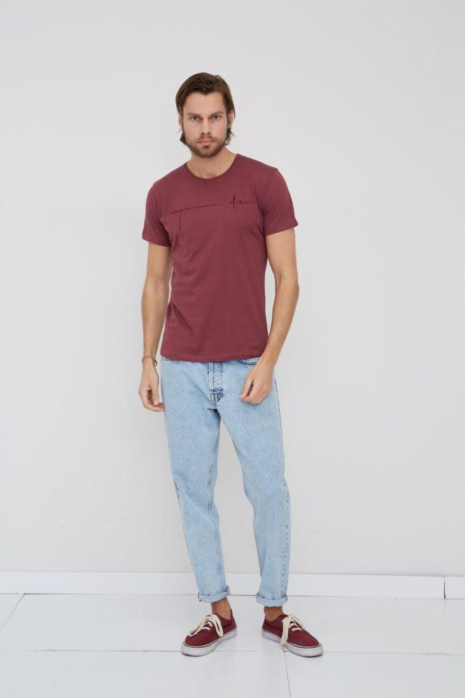 Мужская футболка с фактурным принтом 4-315100