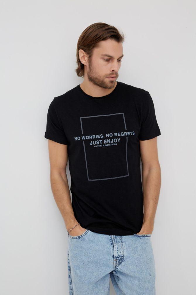 Мужская хлопковая футболка 1-311700