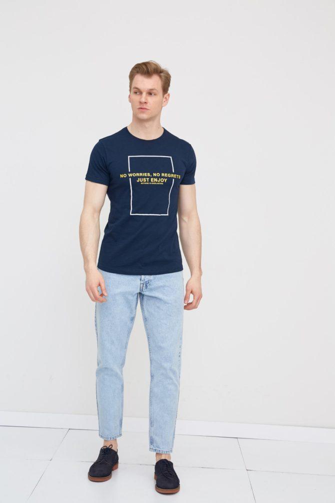 Мужская хлопковая футболка 2-311700