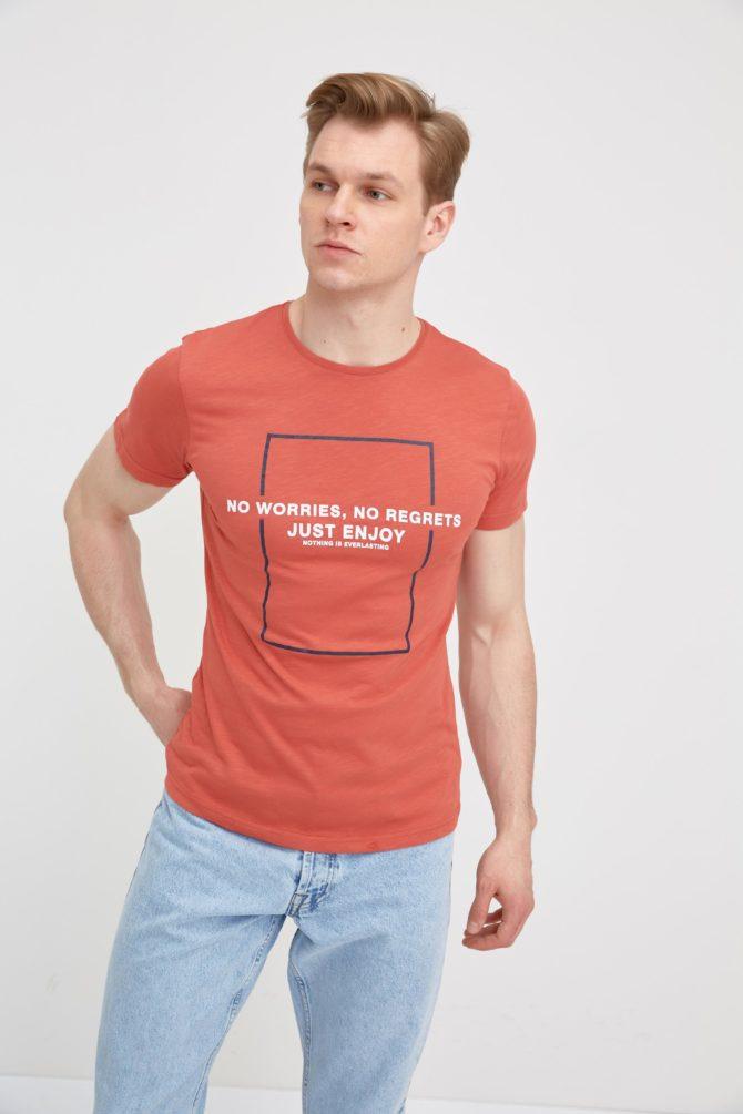 Мужская хлопковая футболка 16-311700