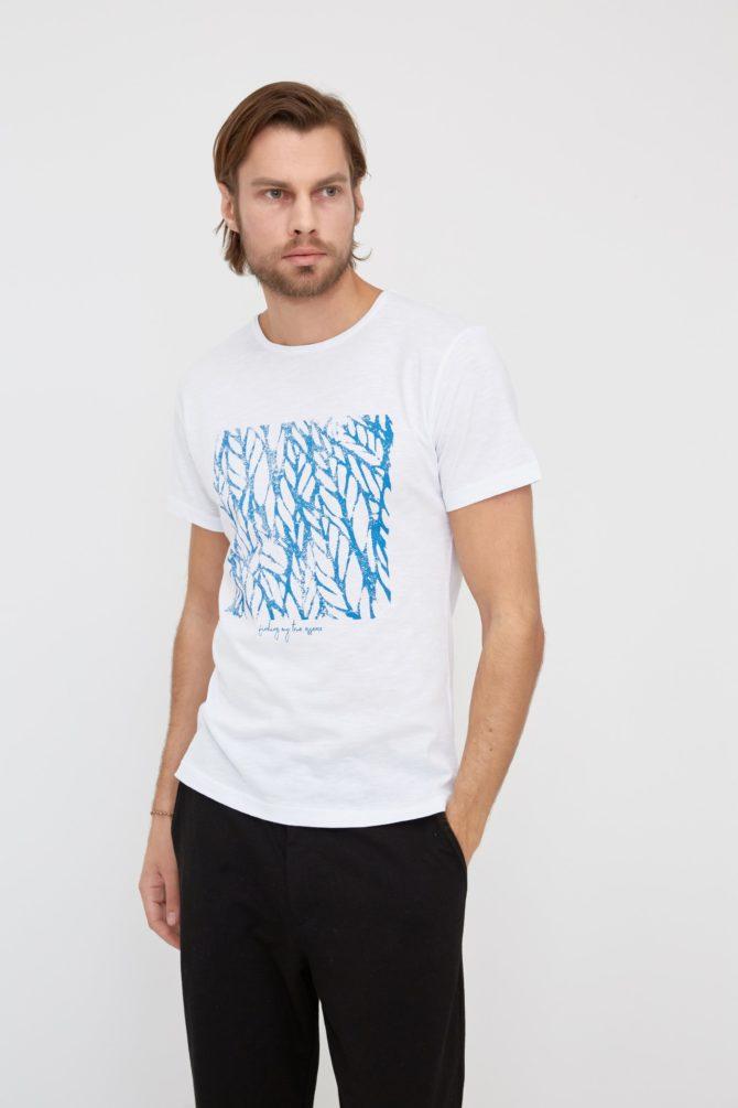 Мужская футболка 100% хлопок Slim-Fit 17-311300
