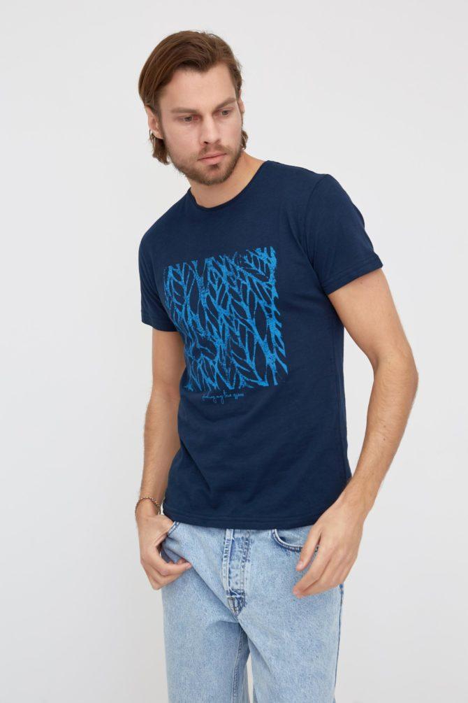 Мужская футболка 100% хлопок Slim-Fit 2-311300