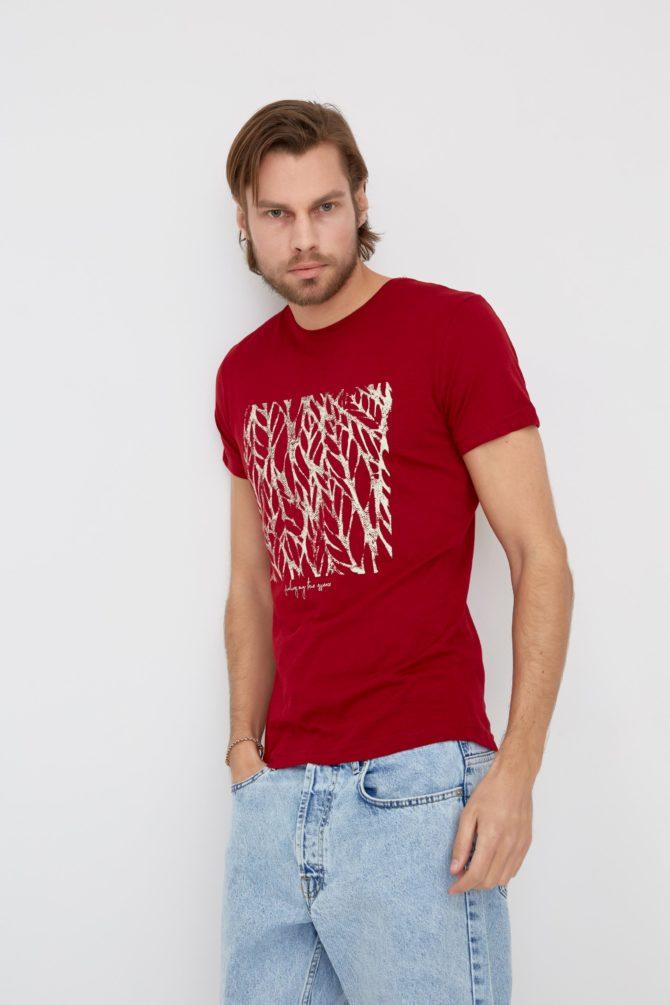 Мужская футболка 100% хлопок Slim-Fit 4-311300