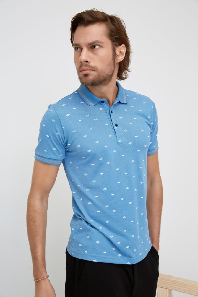 Мужская футболка поло 22-352300