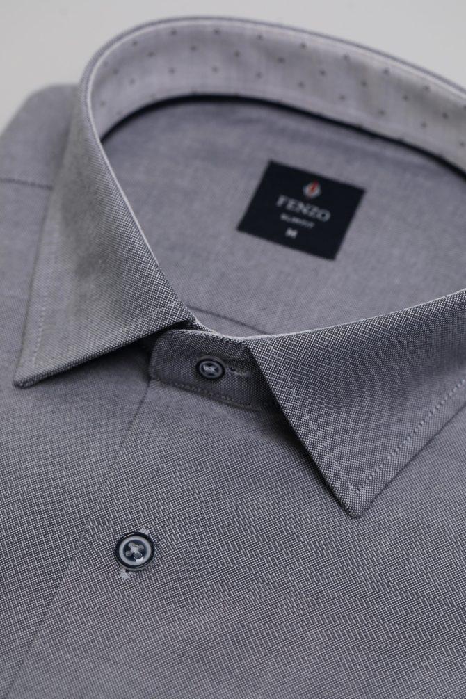 Приталенная рубашка из хлопка 1-107-4-1177